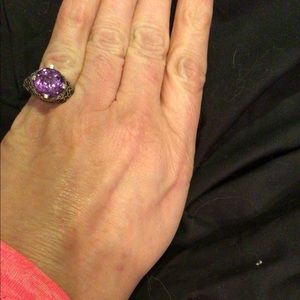 Purple gem stone ring